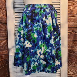 Lane Bryant Sz 20 Watercolor Skirt.